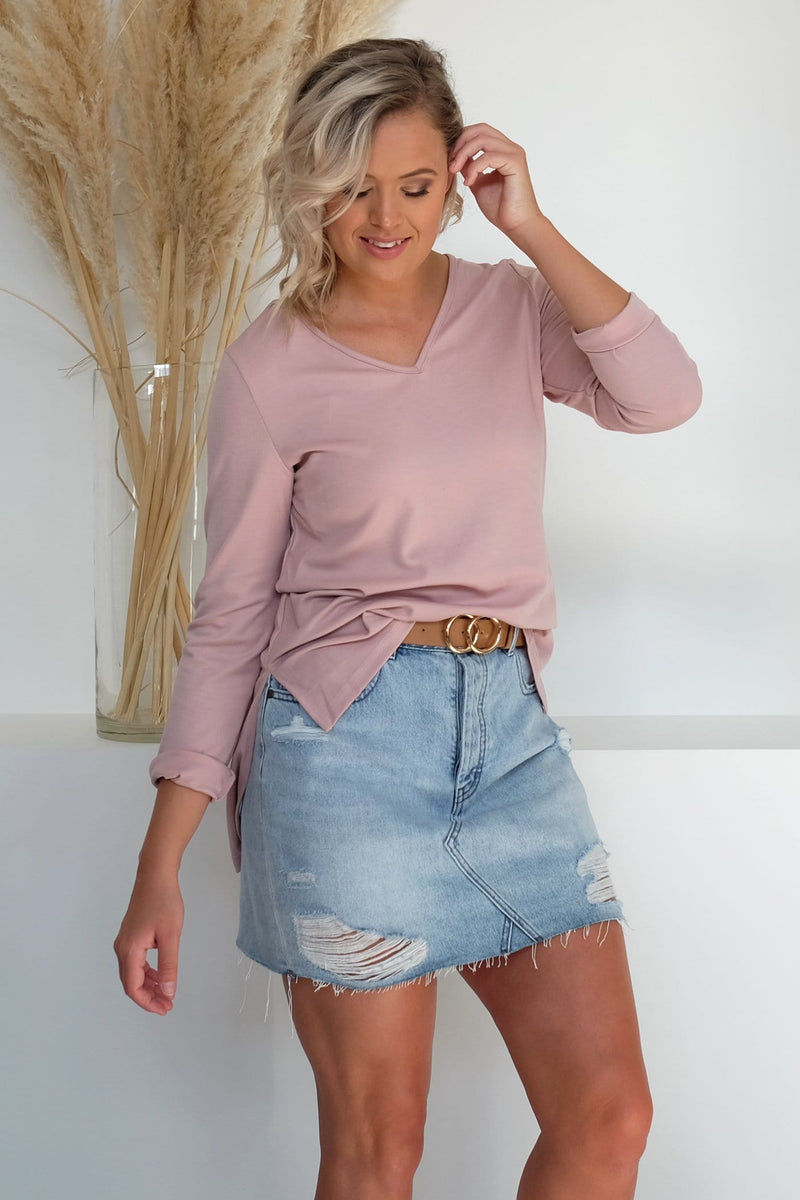 Enough Love Top Blush