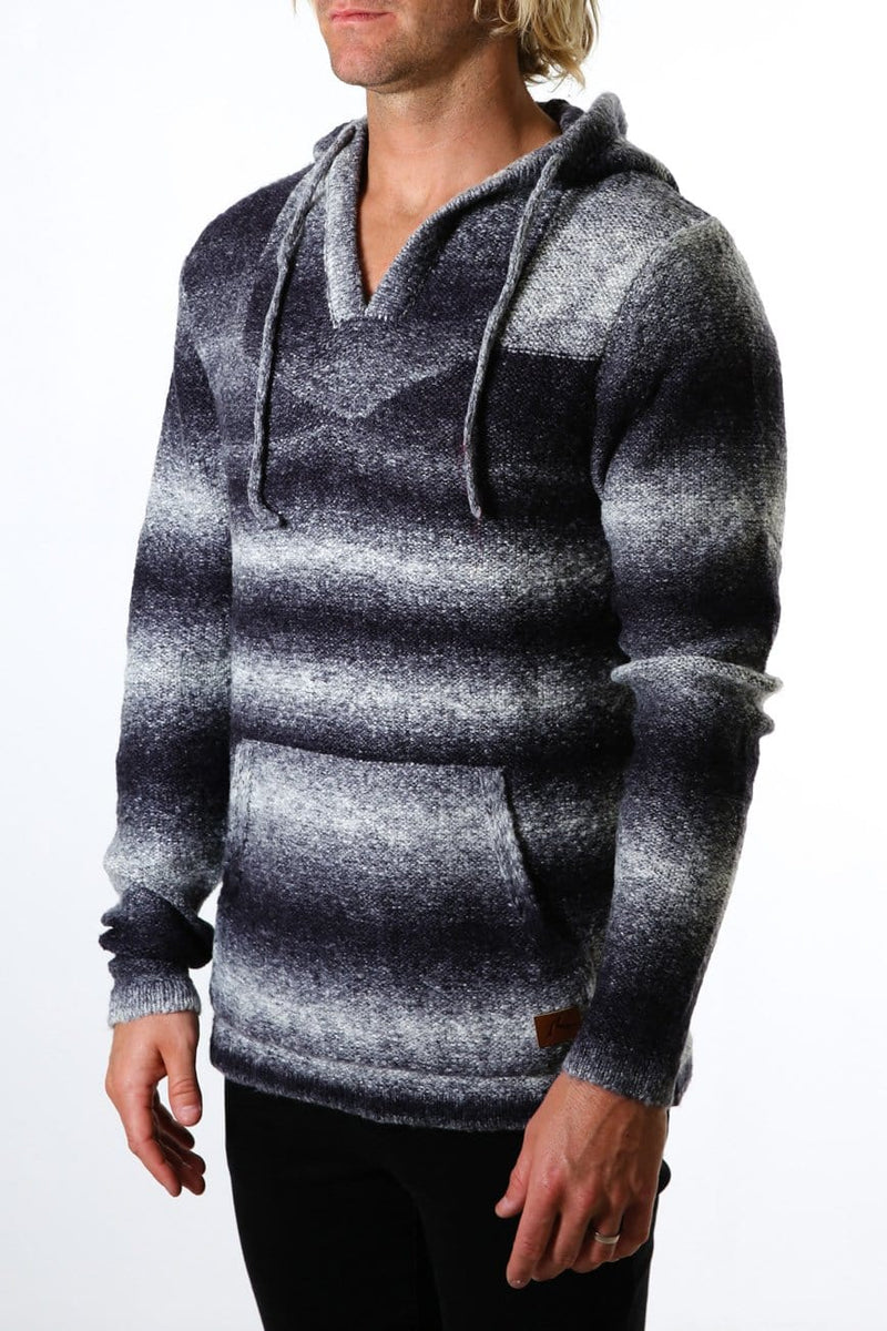 Ensenada Hooded Knit Stone Grey