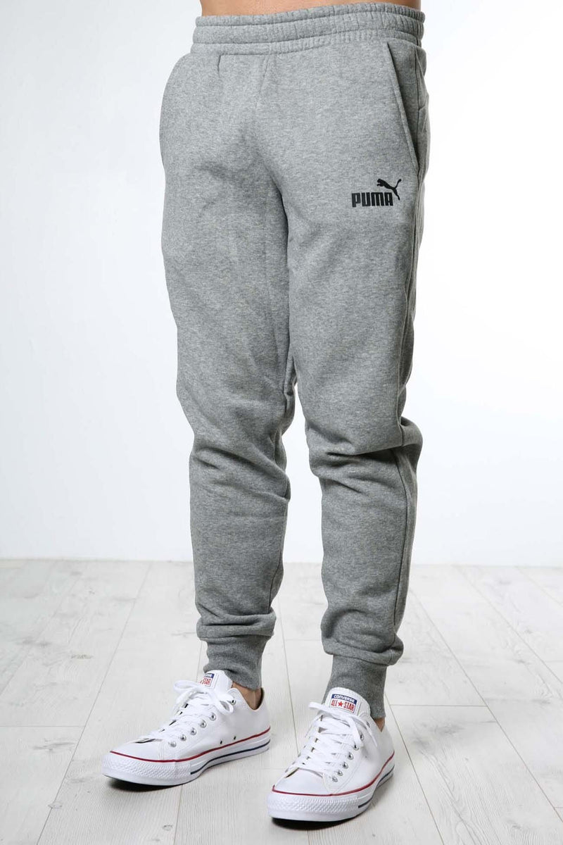 Essentials Knitted Fleece Pants Medium Gray Puma - Jean Jail