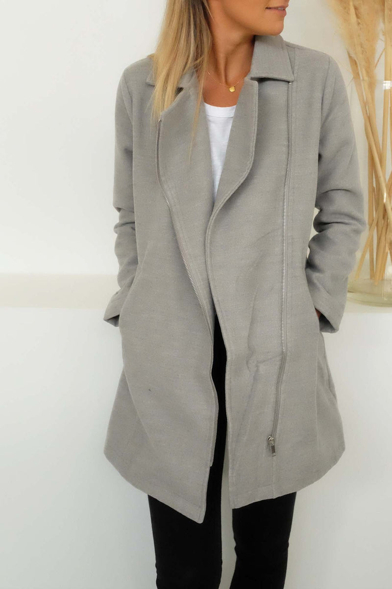 Essential Winter Coat Grey Marle Sass - Jean Jail