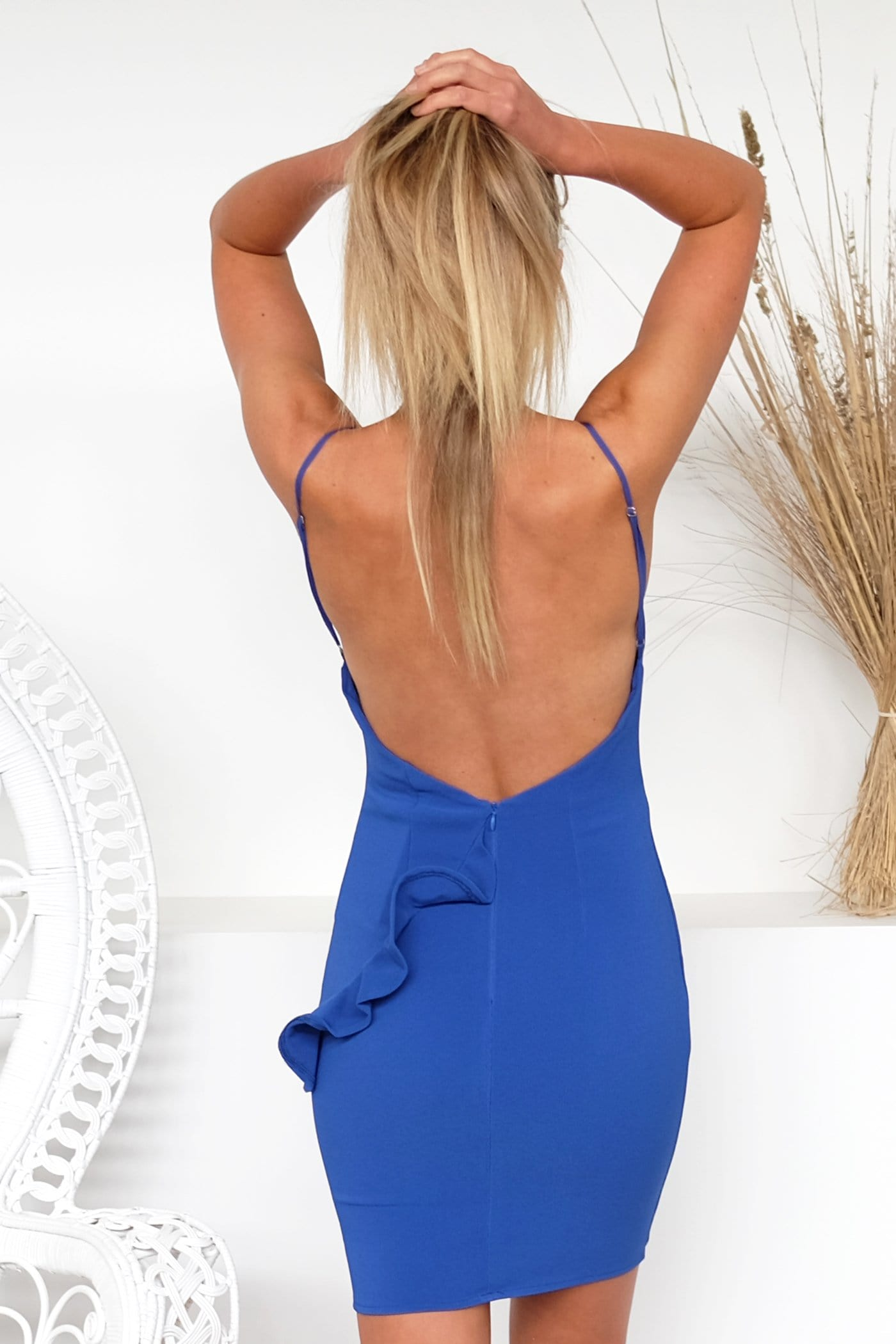 Everything In This Dress Cobalt Blue