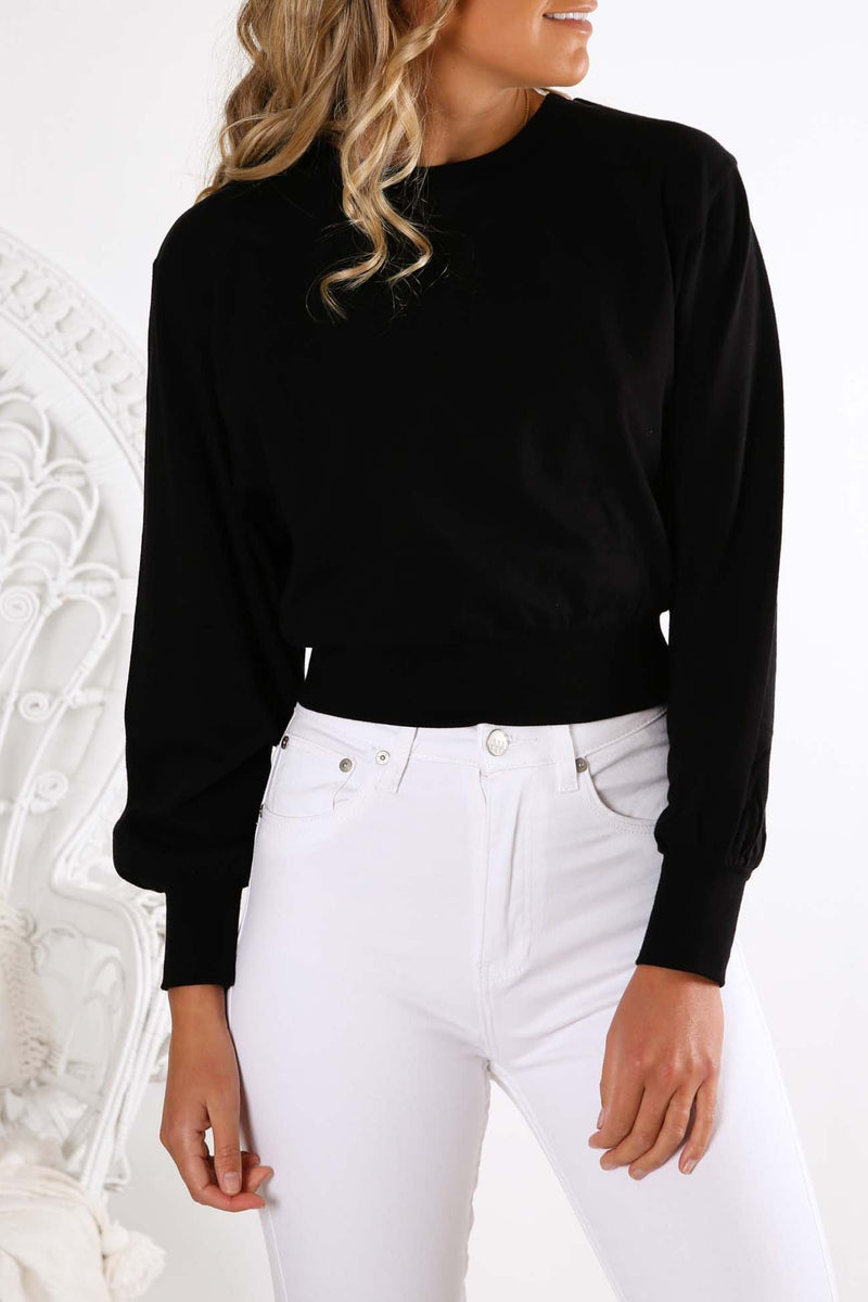 Everything Long Sleeve Top Black Silent Theory - Jean Jail