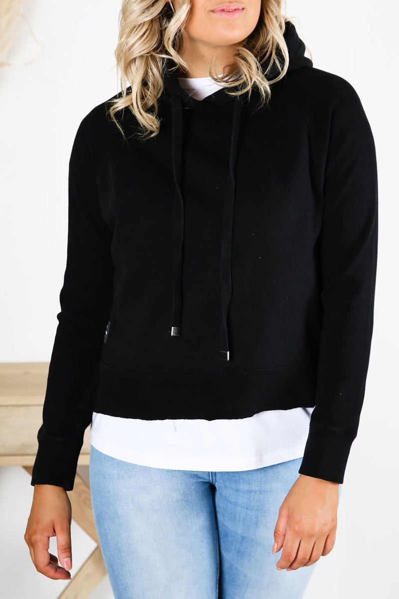 Expanse Panelled Hoody Black All About Eve - Jean Jail