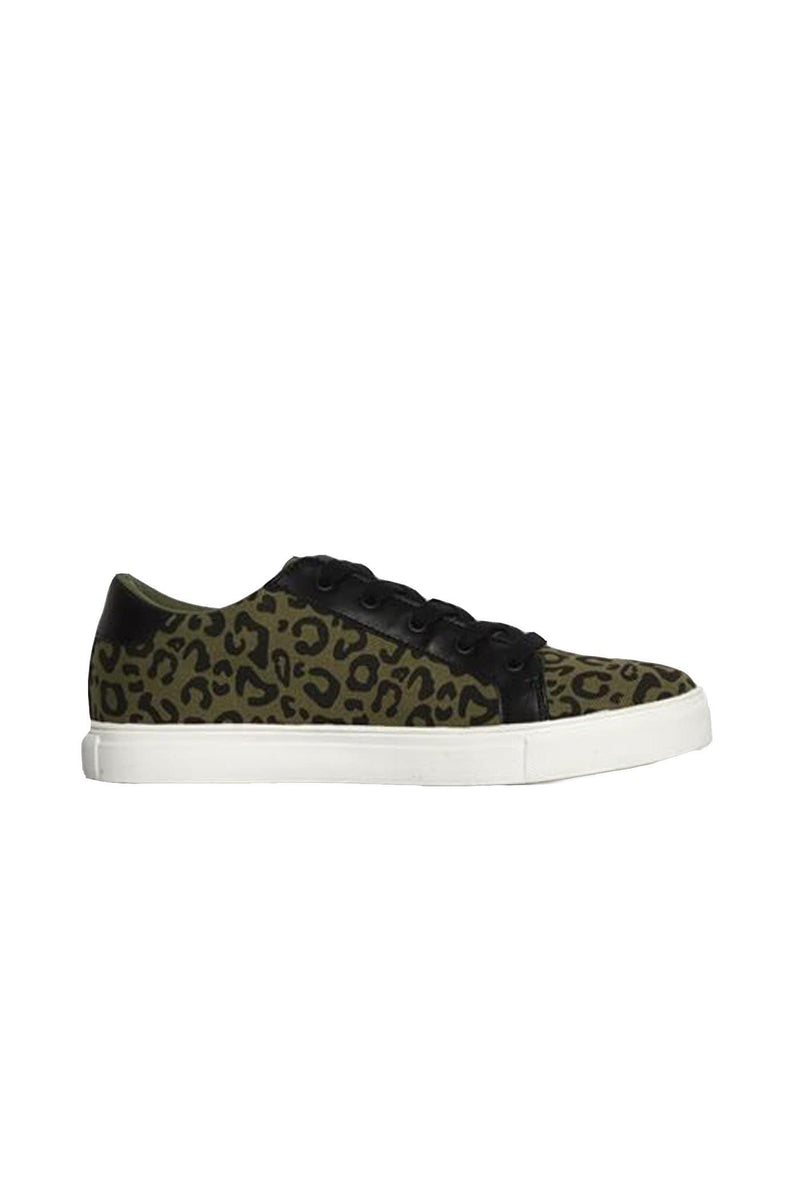 Exploration Sneaker Khaki Leopard Betty Basics - Jean Jail