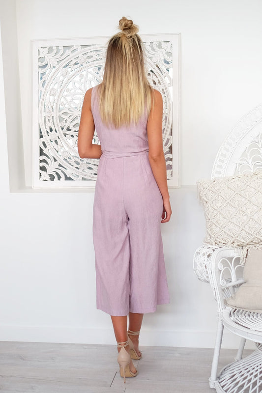 Eyes For You Jumpsuit Mauve