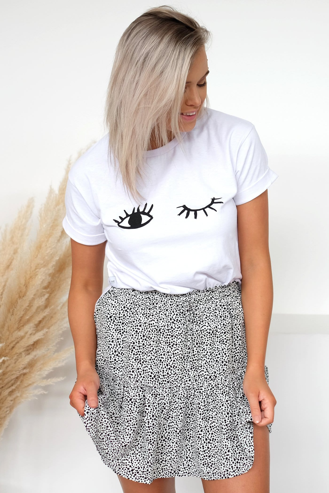 Eyes Up Here Tee White