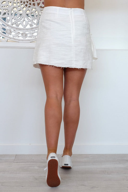 Fear To Tread Skirt White