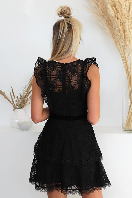 Feminino Mini Dress Black