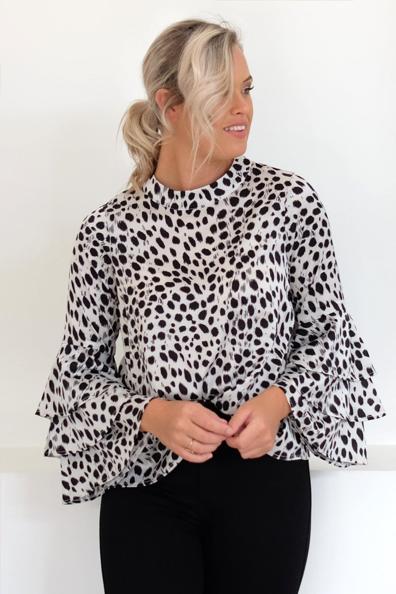 Finding Me Top White Leopard