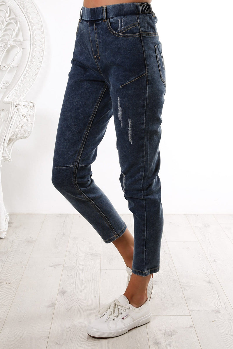Finley Denim Jogger Dark Blue