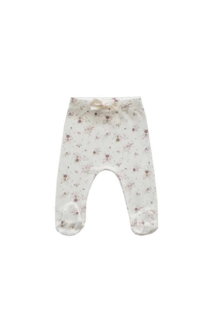 Organic Cotton Footed Pant Sweet William Floral