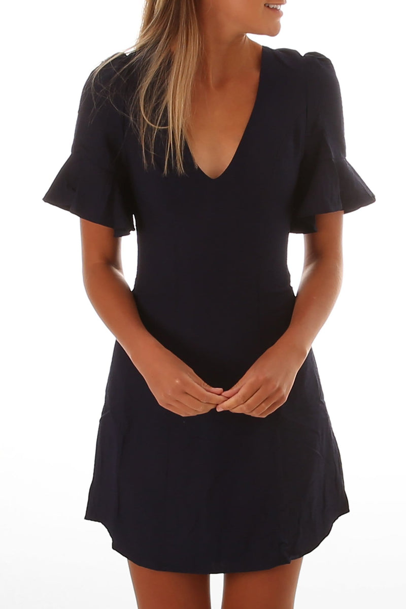 Forget About Me Dress Navy Jean Jail - Jean Jail