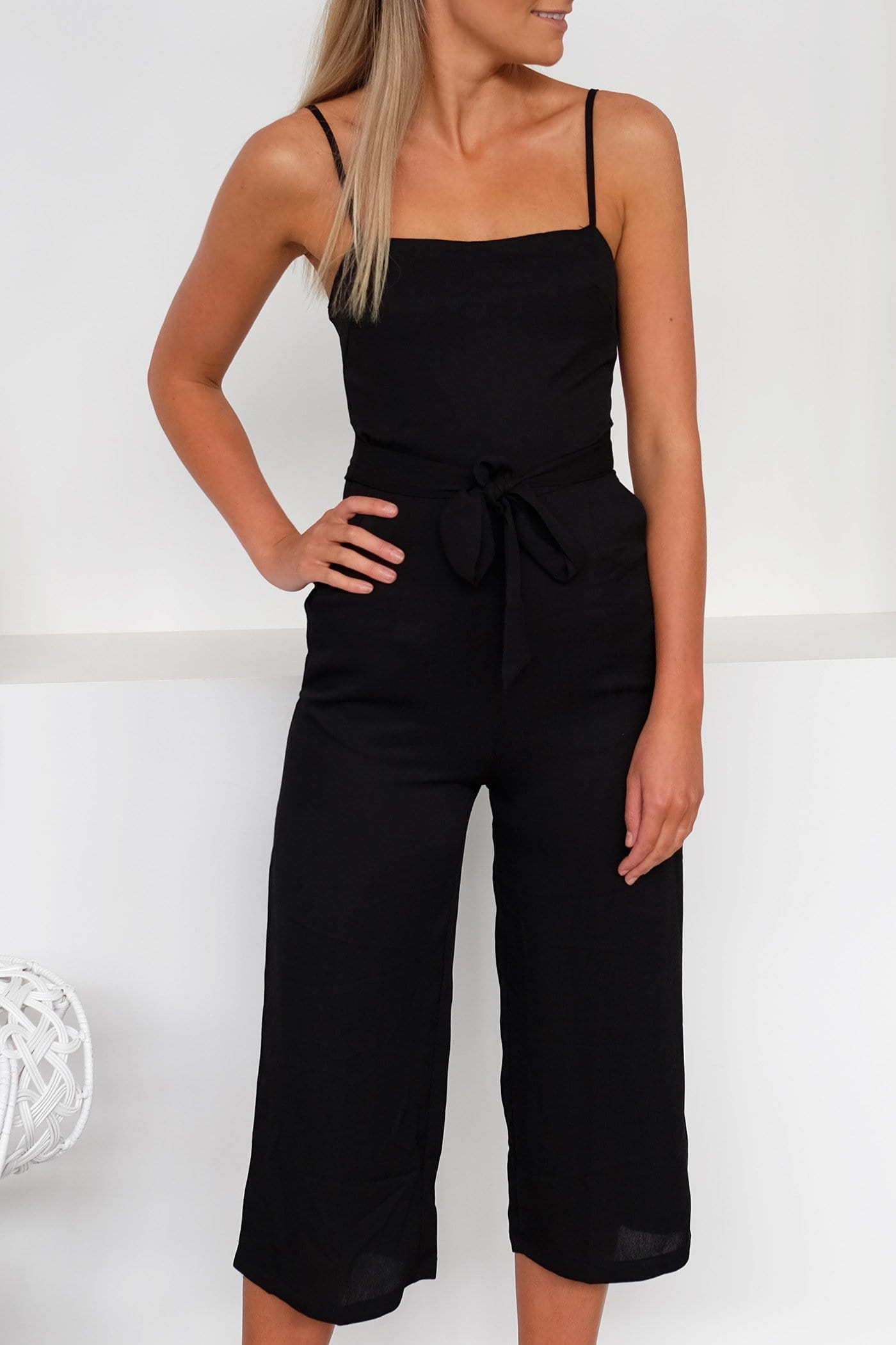 Forget You Jumpsuit Black