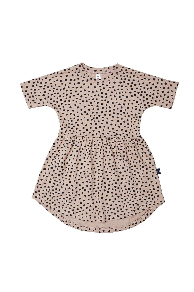 Freckle Swirl Dress Camel
