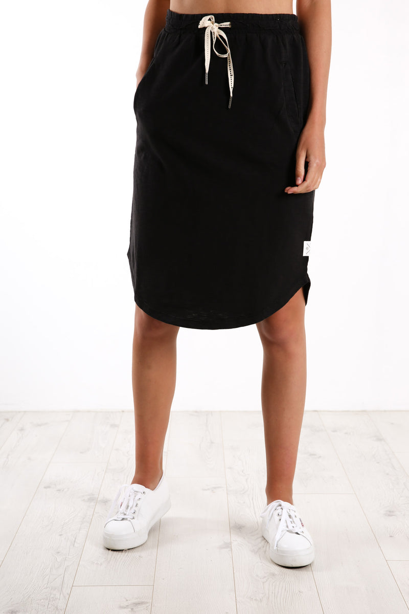 Fundamental Isla Skirt Washed Black