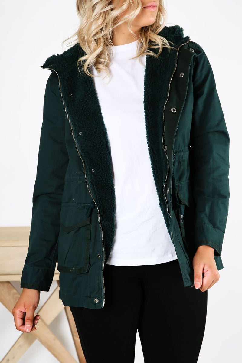 Fundamental Utility Jacket Forest All About Eve - Jean Jail