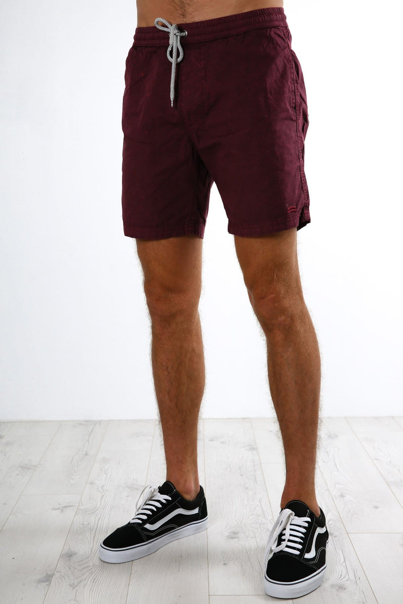Fusion Pull On Short Burgundy