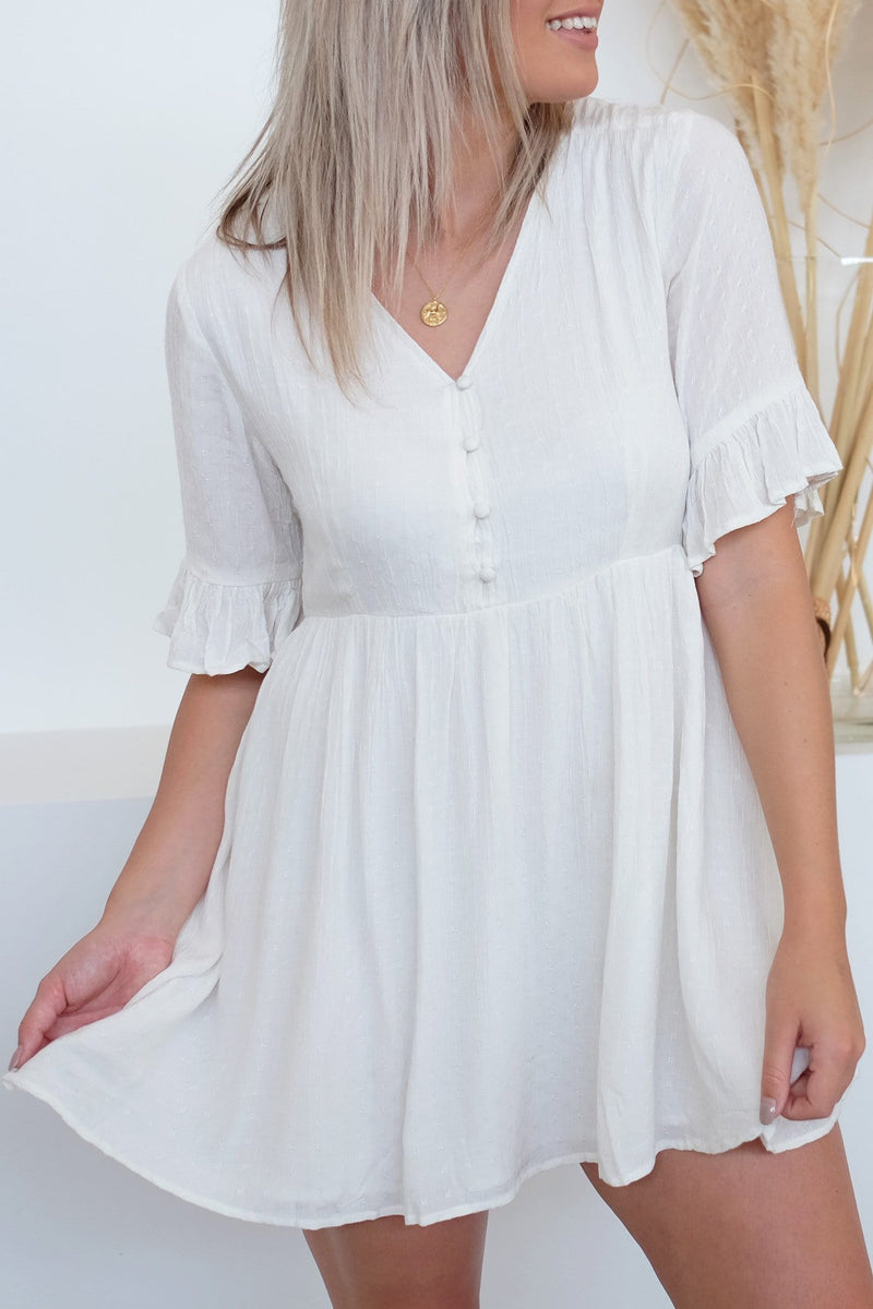Gabriella Dress White