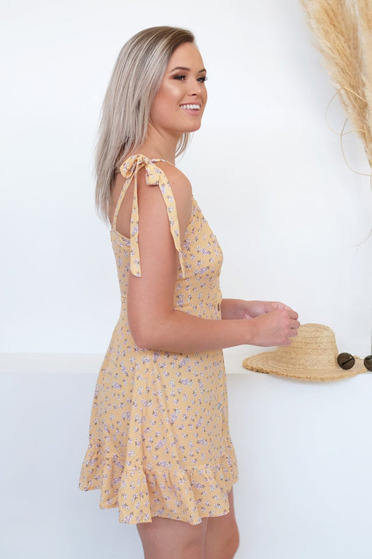 Garden Of Eden Dress Yellow Floral