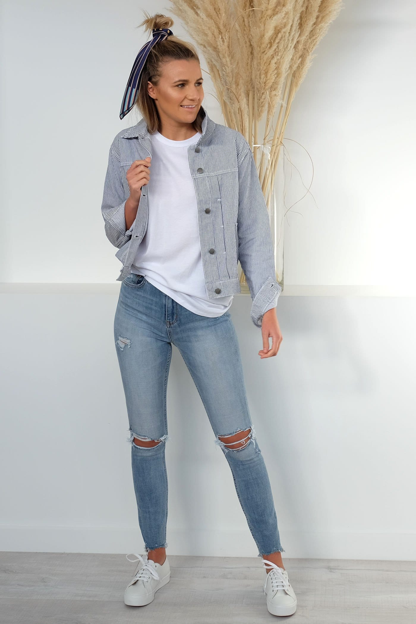 Garn Denim Jacket Stripe