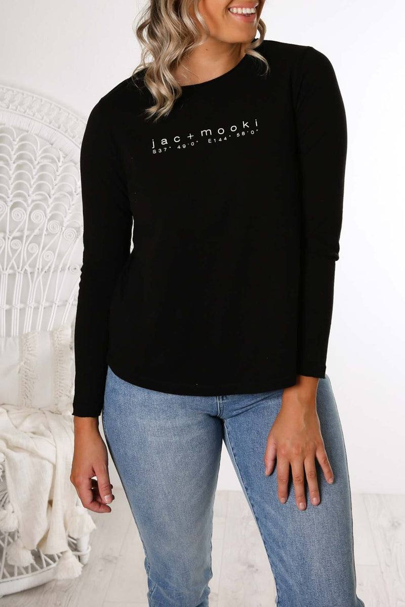 Gigi Long Sleeve Tee Black jac + mooki - Jean Jail