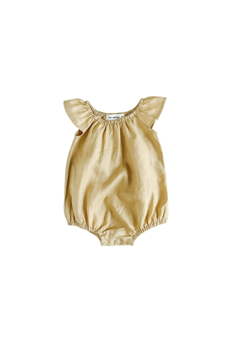 Golden Linen Playsuit