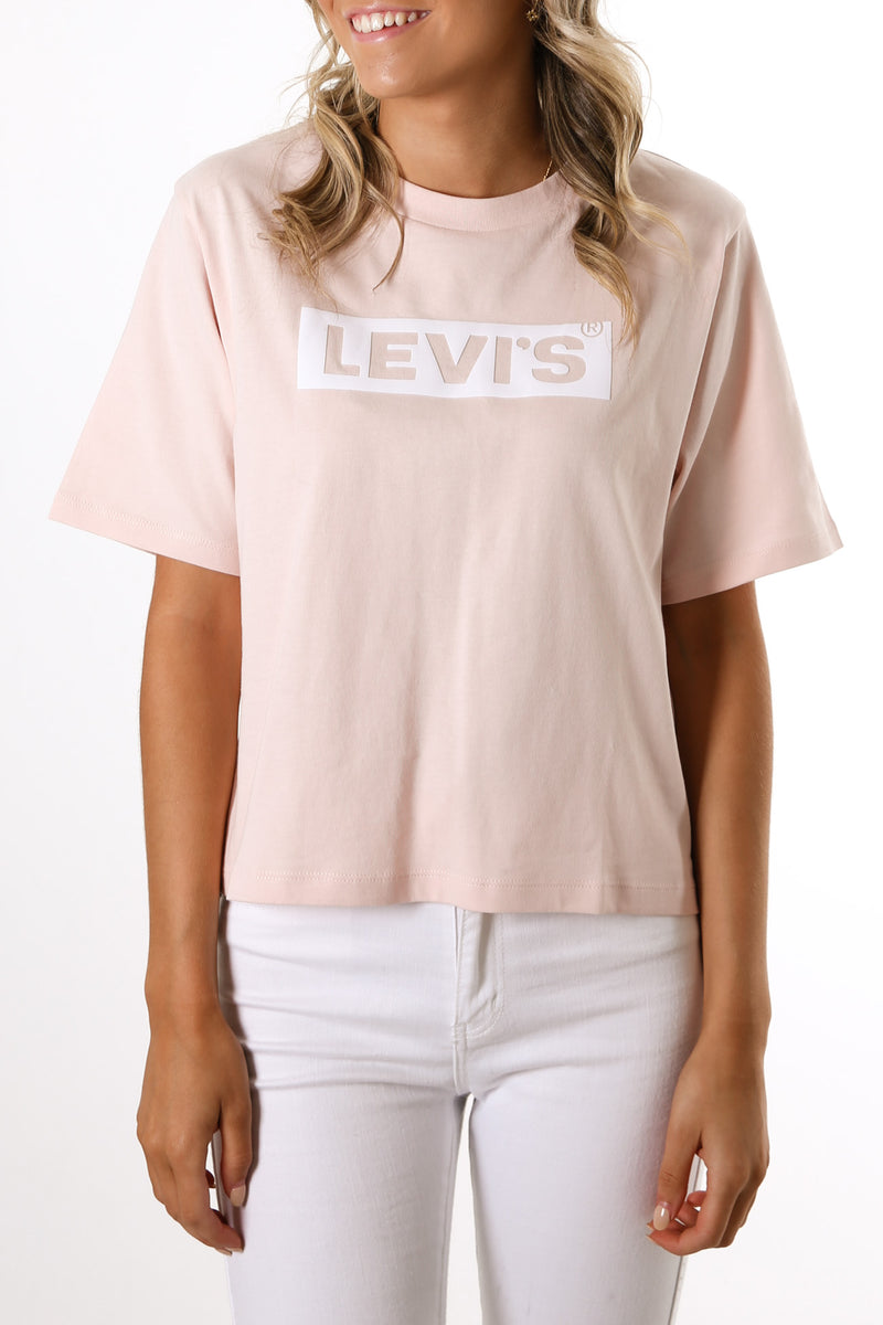 Graphic Boxy Tee Box Tab Puff Peach Blush