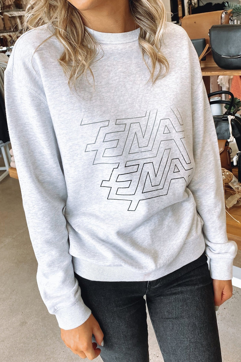 Graphic Sweatshirt Ride The Lightning White Marle