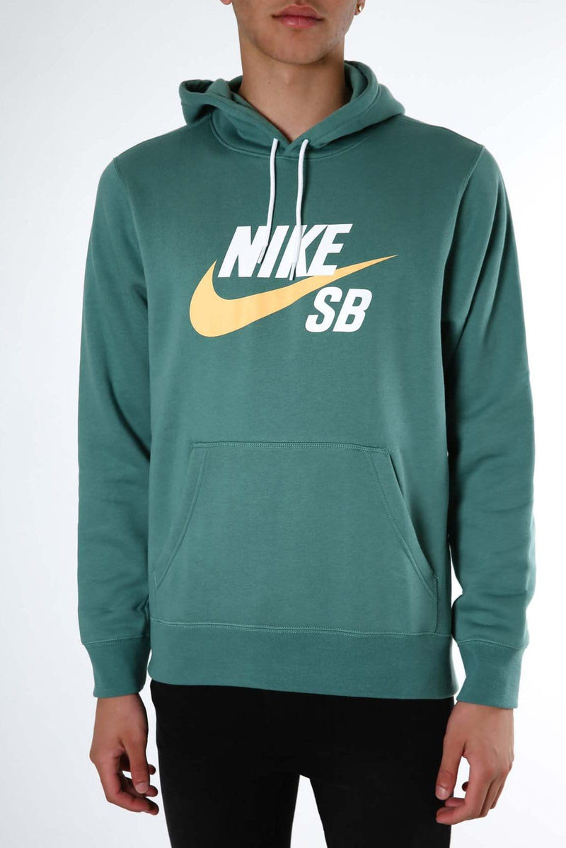 SB Icon Essential Pullover Hoodie Green White Yellow Nike SB - Jean Jail