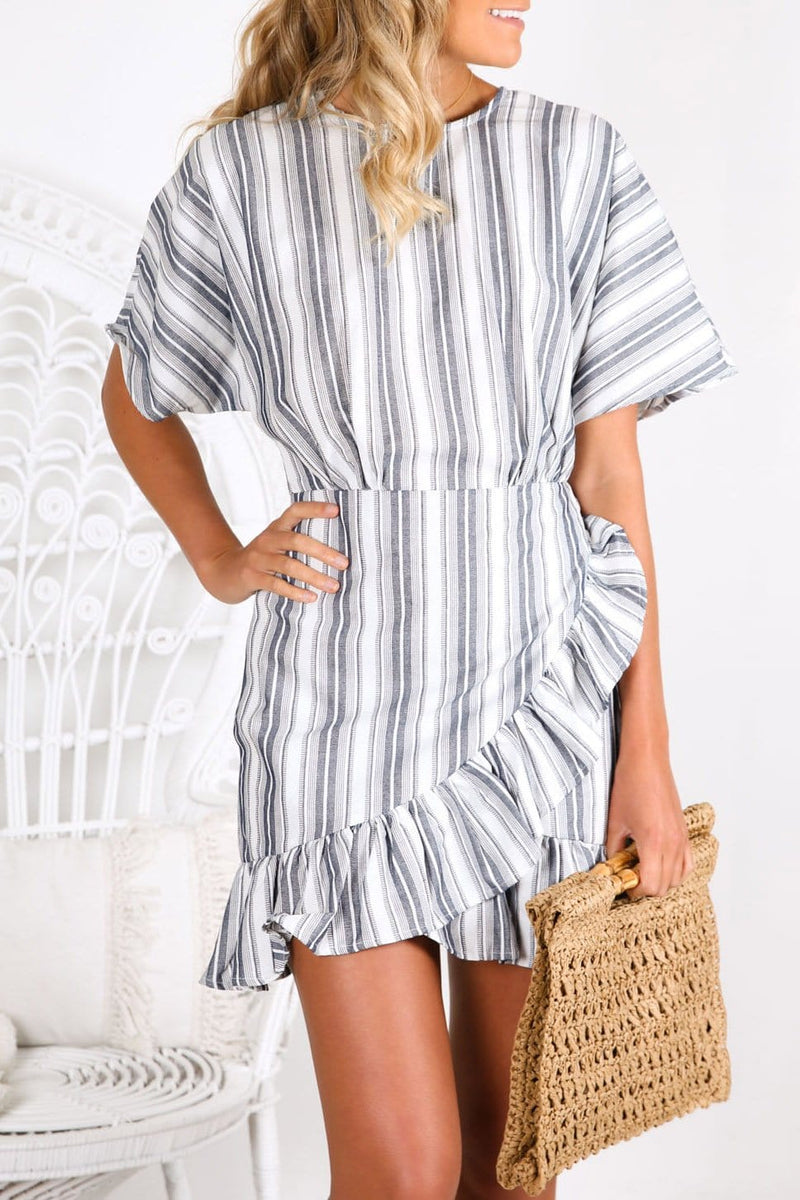 Guide Stripe Dress Navy Ivory The Fifth Label - Jean Jail