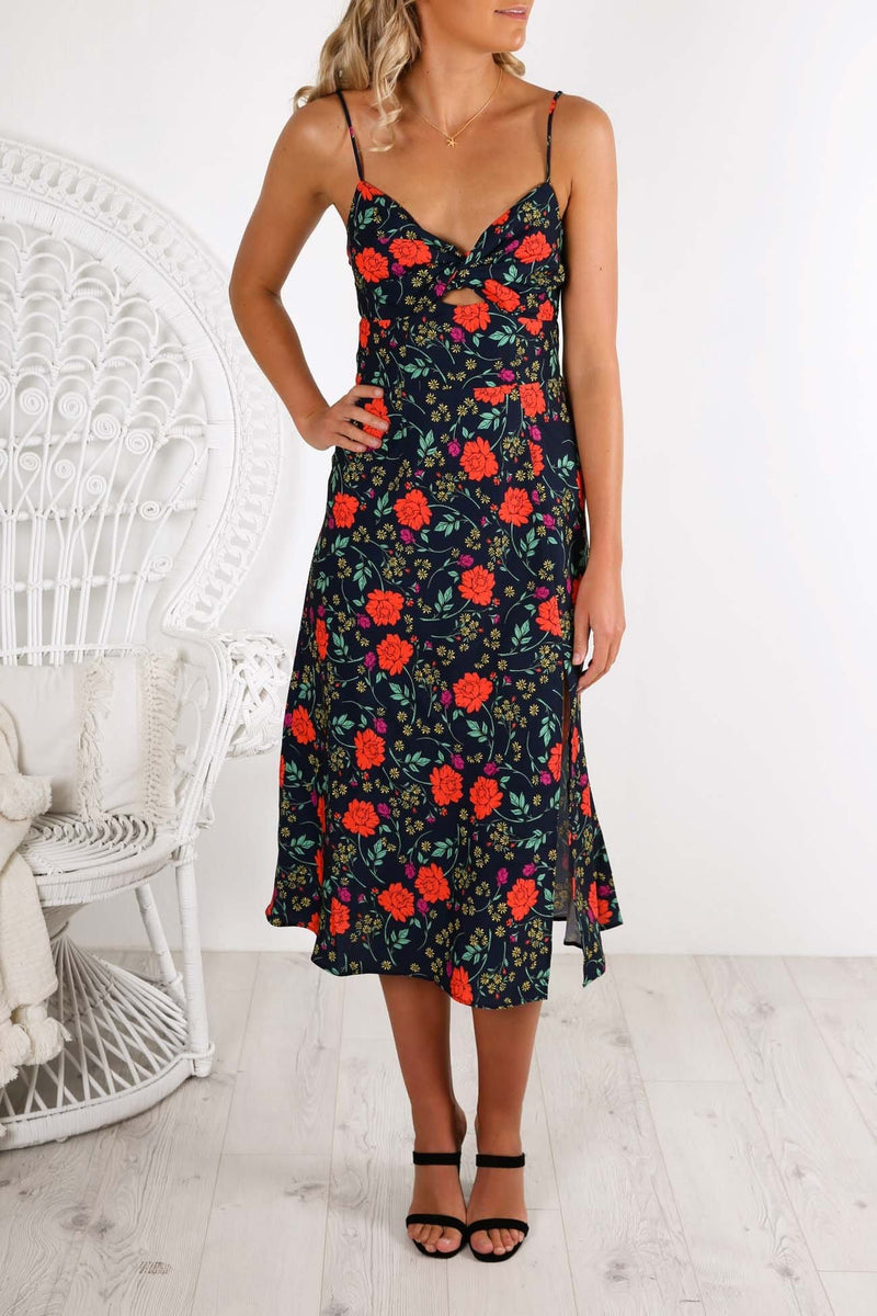 Hana Dress Navy Floral Finders Keepers - Jean Jail