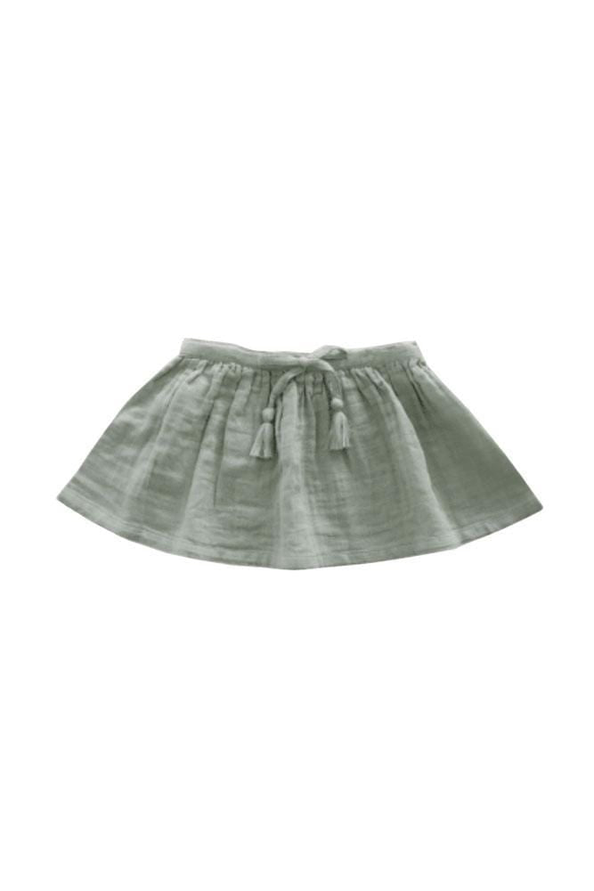 Organic Cotton Muslin Hazel Skirt Sage