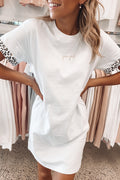 Hear Me Roar Tee Dress White Leopard