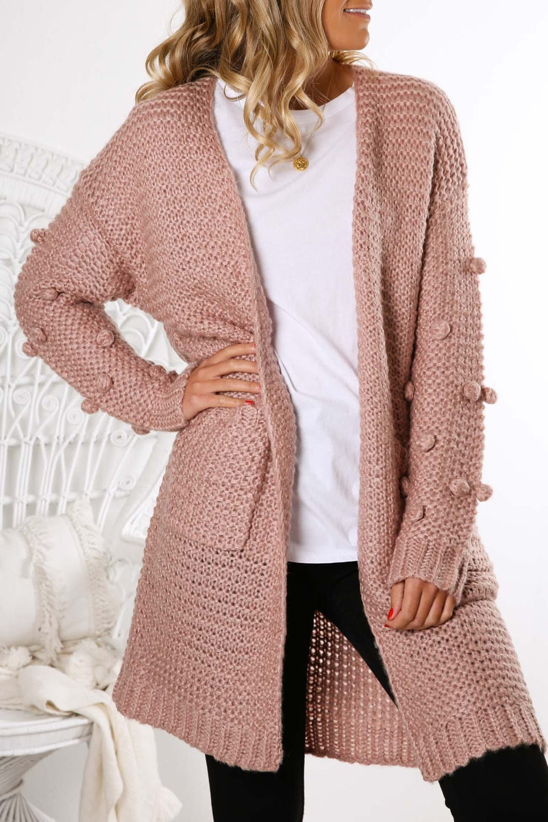 Hey You Knit Cardigan Blush Jean Jail - Jean Jail