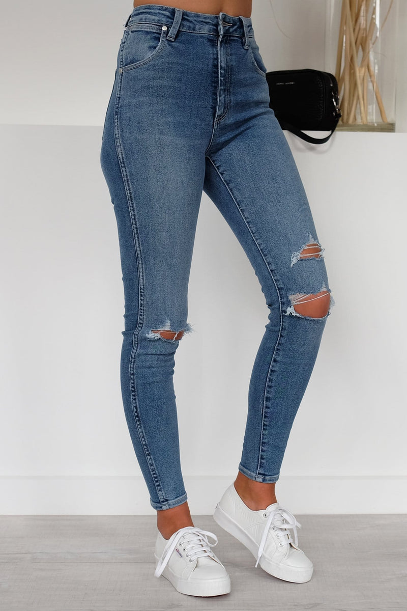 Hi Pins Cropped Jean Holiday Destroyed Wrangler - Jean Jail