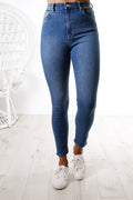 High Licks Crop Jean Havoc Blue