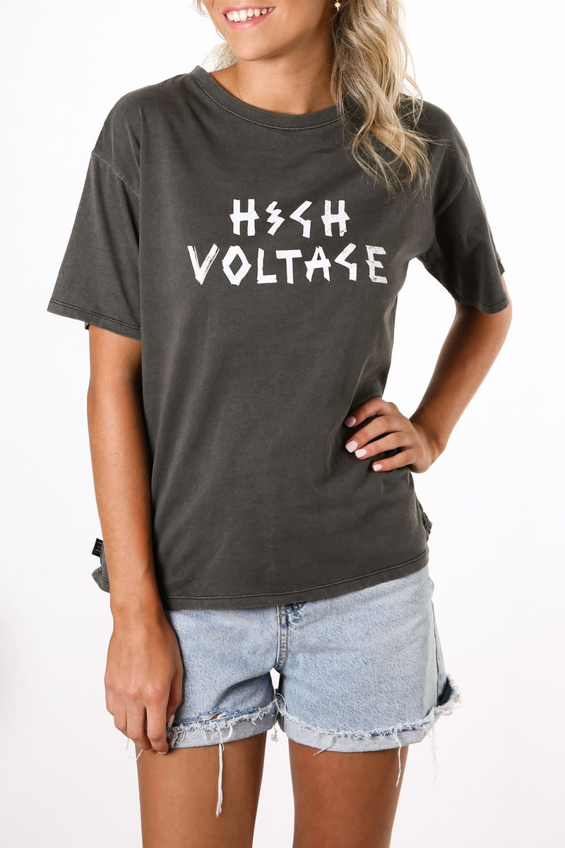 High Voltage Tee Washed Black