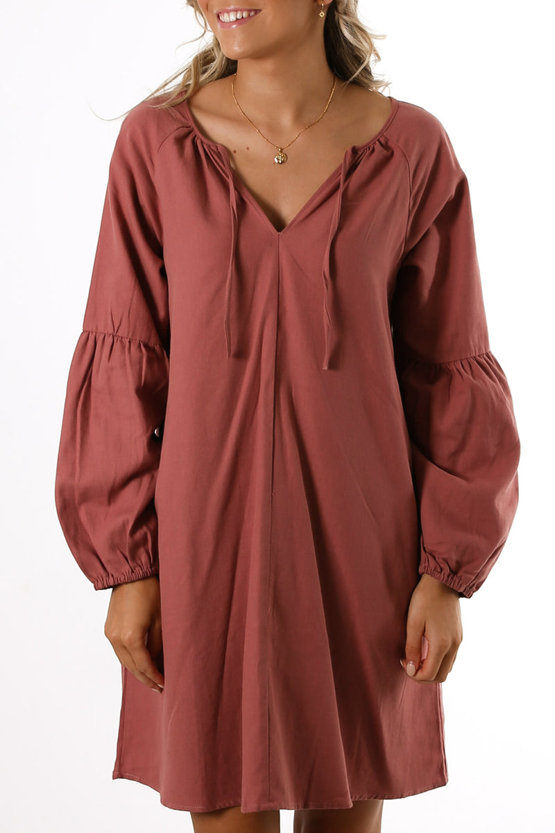 Hilda Dress Rosewood