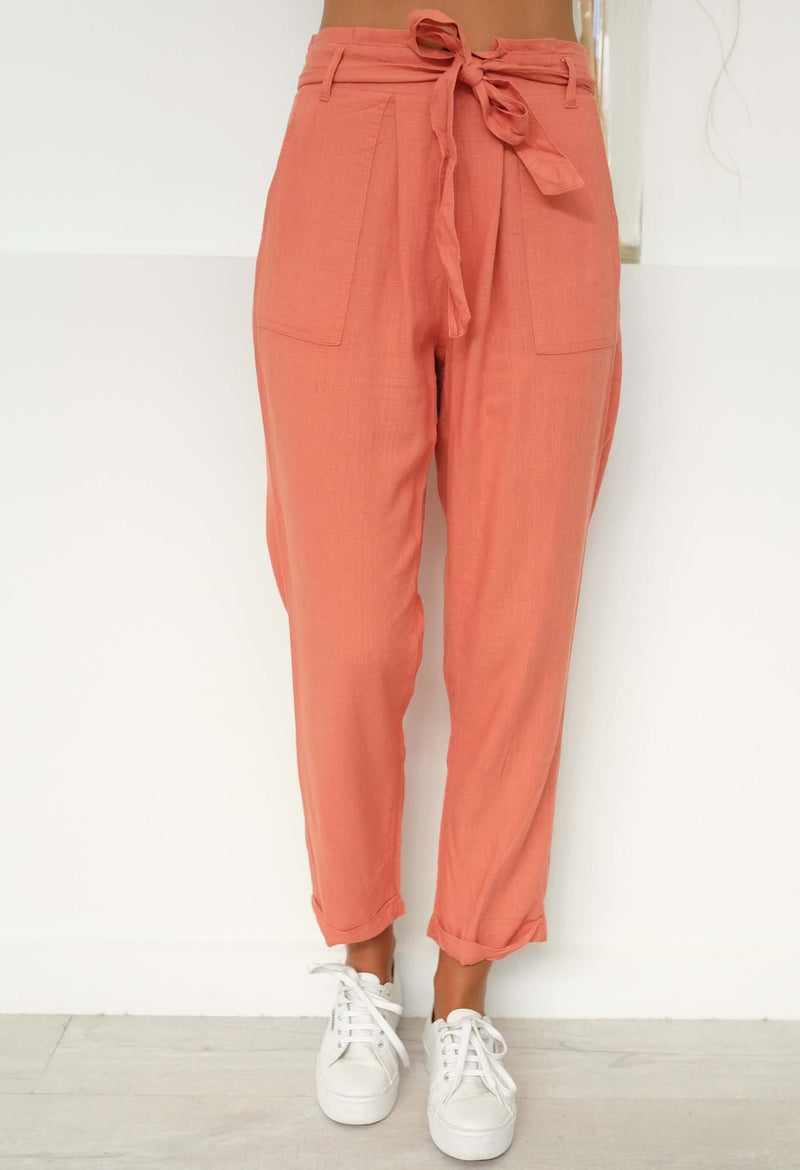 Into The Wild Belted Pant Amber Sass - Jean Jail