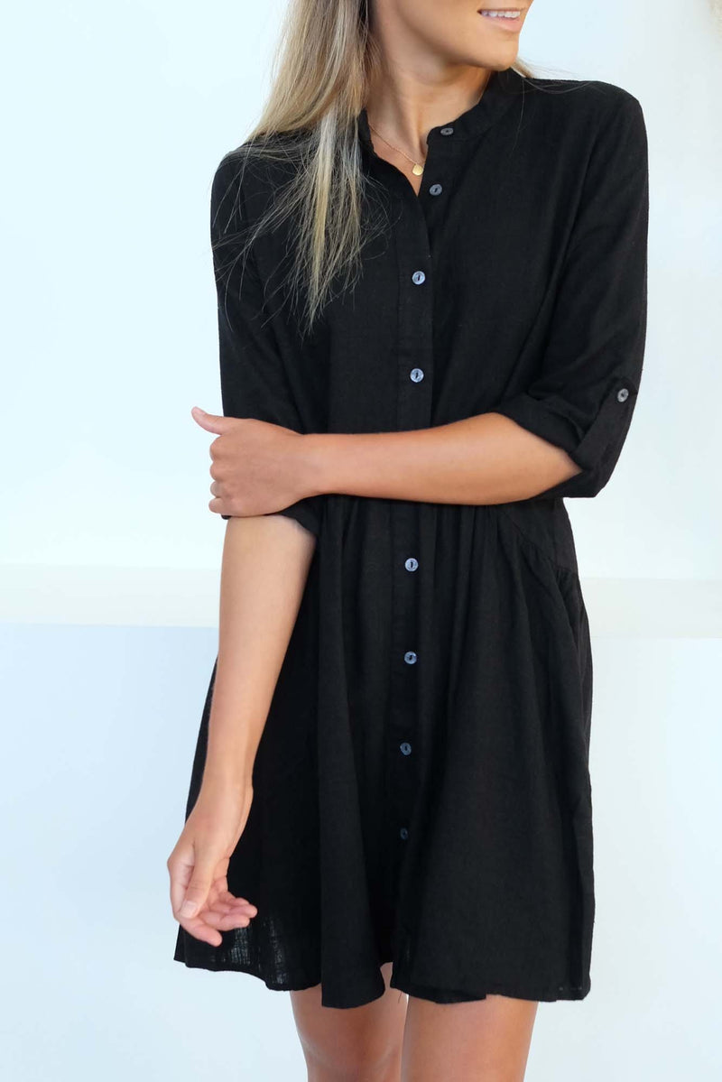 Into The Wild Shirt Dress Black Sass - Jean Jail