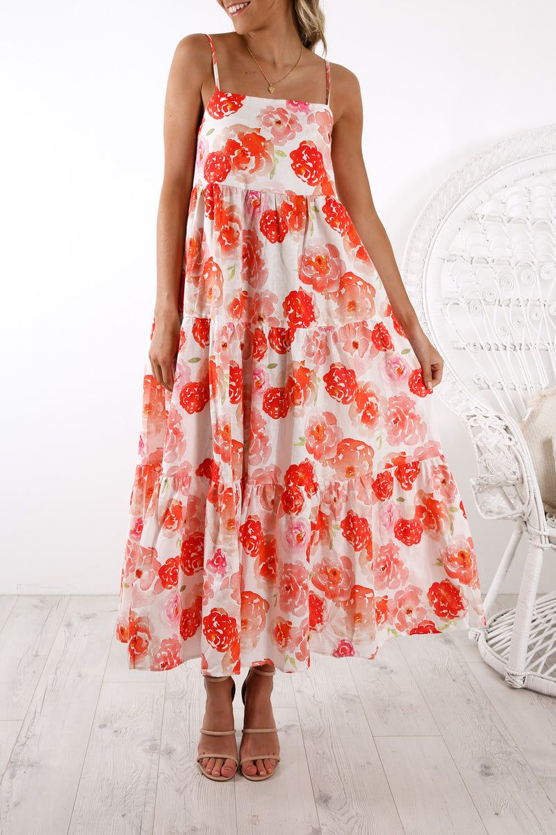 Isabella Maxi Dress Roses