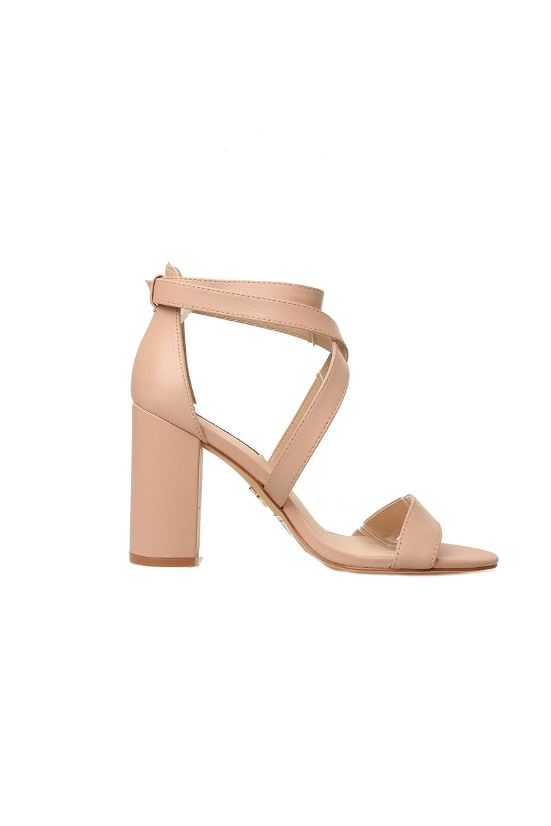 Ivena Heel Blush Leather Windsor Smith - Jean Jail