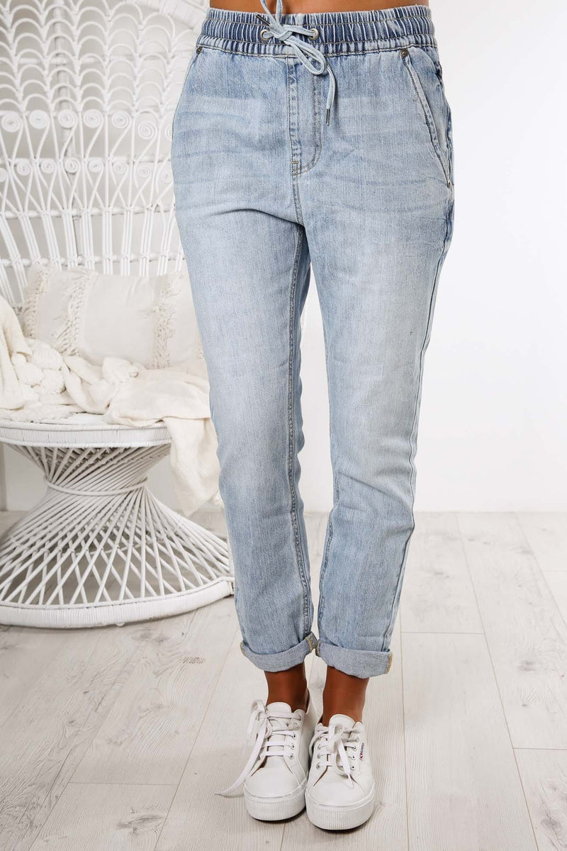 Jamie Utility Pant Light Blue Denim All About Eve - Jean Jail