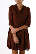 Jocey Shirt Dress Rosewood Animal