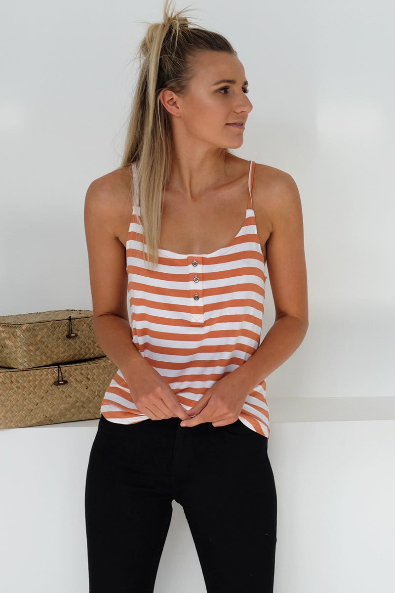 Joy Stripe Tank Rust Stripe All About Eve - Jean Jail