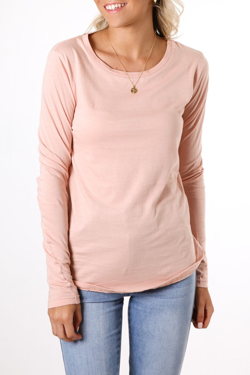 Kara Long Sleeve Tee Blush