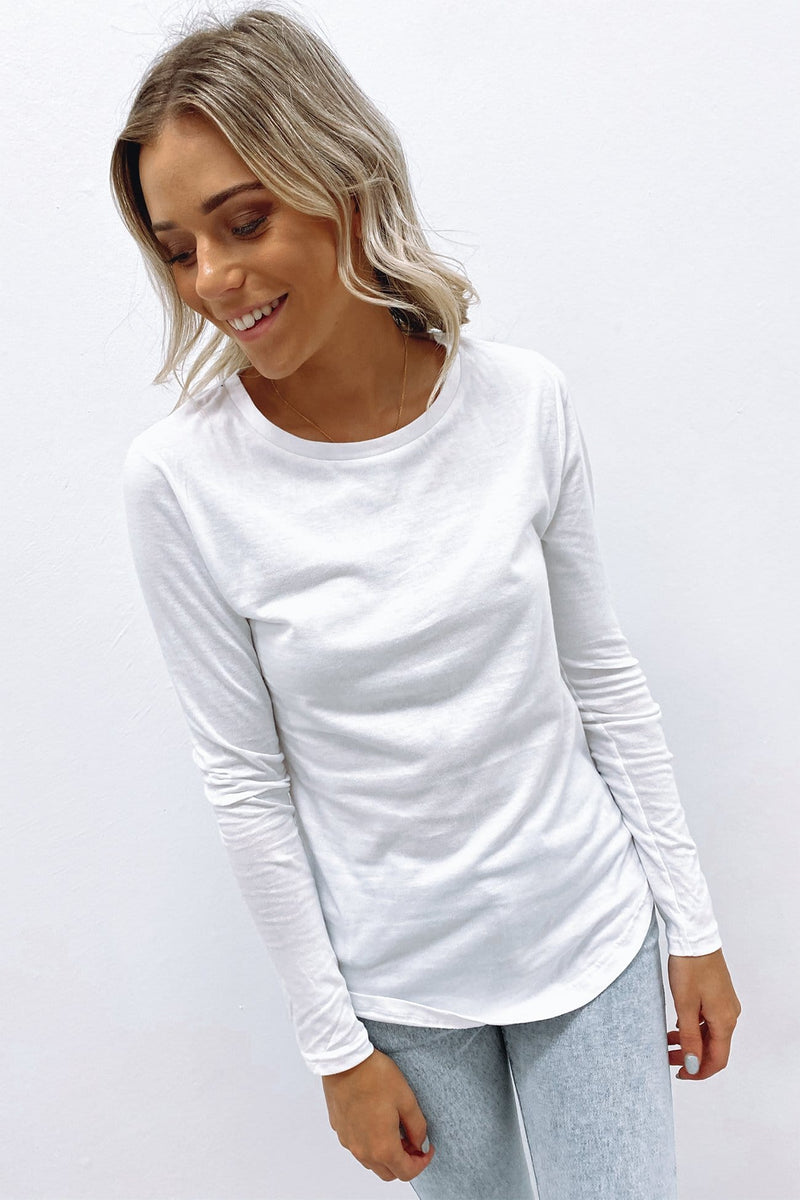 Kara Long Sleeve Tee White