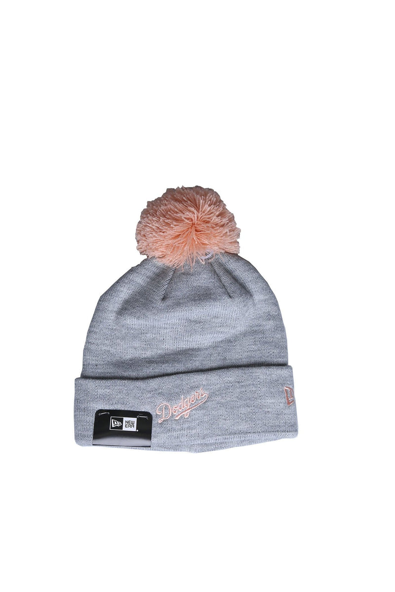 Los Angeles Dodgers Pom Knit Beanie Grey Peach New Era - Jean Jail
