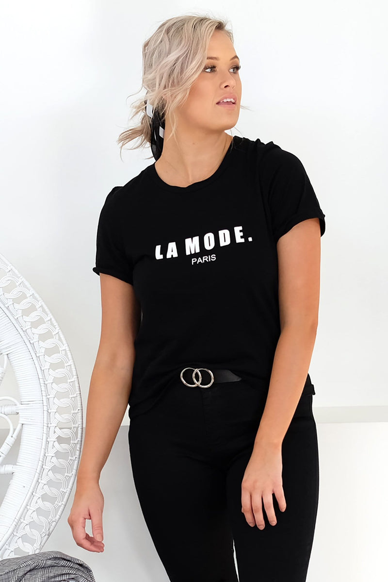 La Mode Tee Black Jean Jail - Jean Jail