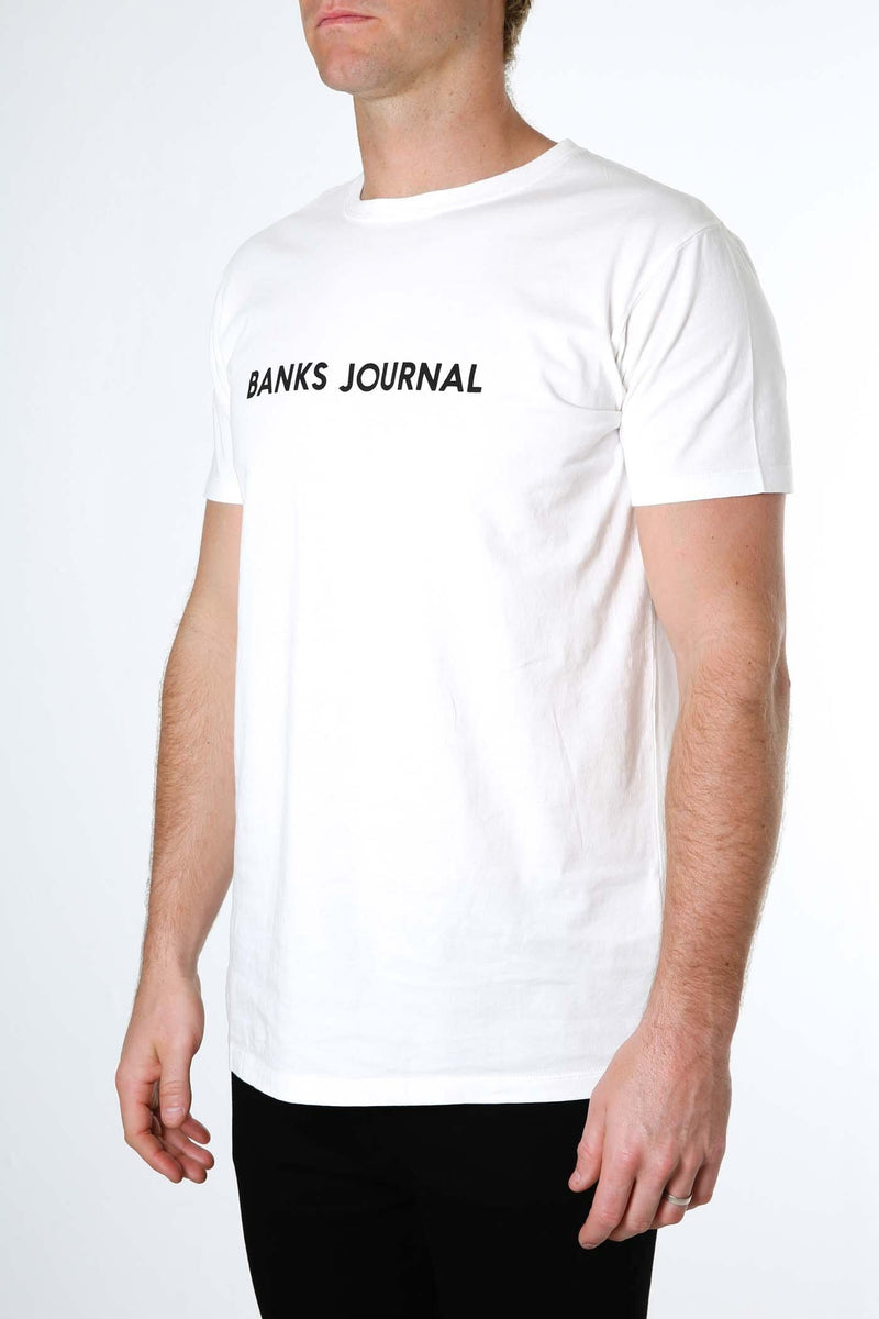 Label Staple Tee Off White BANKS JOURNAL - Jean Jail
